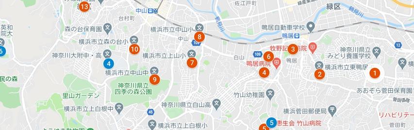 地域防災拠点・広域避難場所 マップ