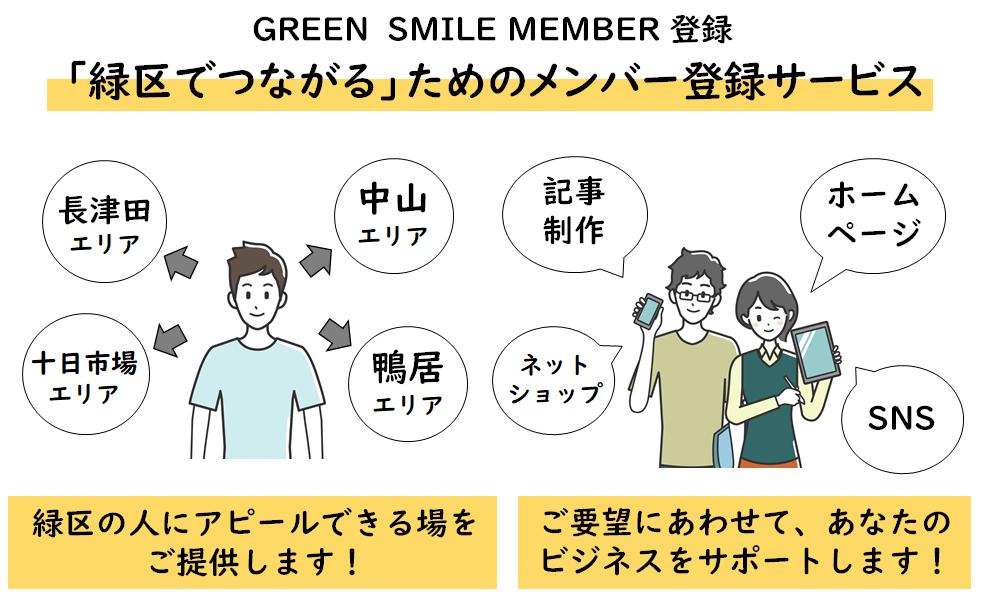 GREEN SMILEのメンバー登録 緑区でつながるためのメンバー登録サービス