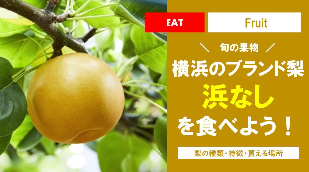 旬の果物!横浜のブランド梨「浜なし」を食べよう!梨の種類や買える場所まとめ!!